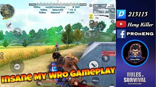 ROS: Insane My WRO Gameplay / Rule Of Survival Full Gameplay Ep.6