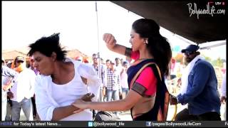 Deepika Padukone gets violent with Shahrukh Khan and Rohit Shetty during Chennai Express shoot
