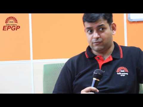 EPGP IIMB testimonials Student Speak Why an MBA Video 1