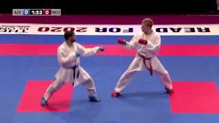 Rafael Aghayev vs René Smaal. Final Kumite Male -75kg. 48th European Karate Championships
