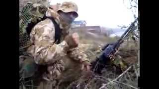 Lính Nga nổi hứng khi bắn nhau