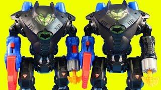 Imaginext Batman Gives Robin A New Batbot Robot To Destroy Joker & Gorilla Grodd Causes Trouble