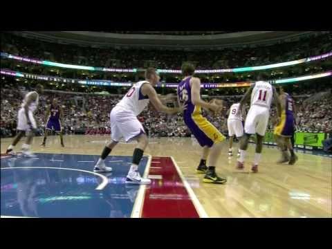 #27 at Philadelphia 76ers - Pau Gasol Video Project 2011