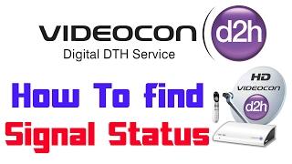 How To Find Videocon d2h Signal Information | Transponder Information
