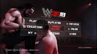 WWE 2K18 How To Download SUPERSTARS/LOGOS From WWE COMMUNITY CREATIONS PS4 Tutorial
