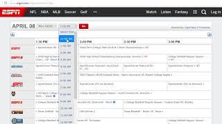 Espn3 schedule for today