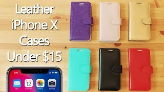 Leather iPhone X Cases Under $15