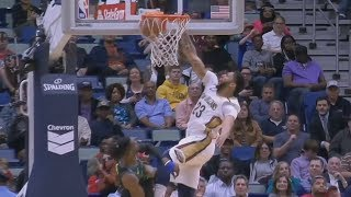 Anthony Davis Leaning 1 Handed Oop! 37 Points! 2017-18 Season