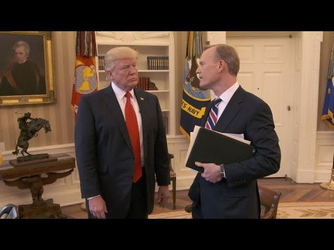 President Trump talks bigness of the presidency