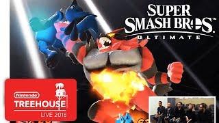 Super Smash Bros. Ultimate - Incineroar and Simon Gameplay - Nintendo Treehouse: Live