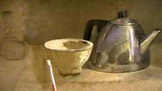 Painting a teapot 2 - demo by dutch artist Jos van Riswick