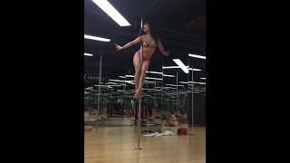 Gangsta - Kehlani (Pole dance fitness by Ms Tra Puma) in California Fitness Center