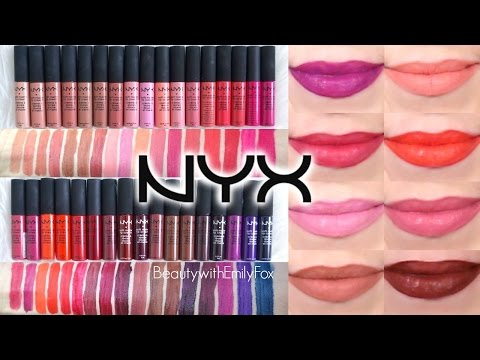 NYX Soft Matte Lip Cream + Lip Swatches | ALL 34 SHADES Including NEW SHADES