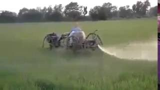 Latest Agriculture Technology 2016 Spraying in fields