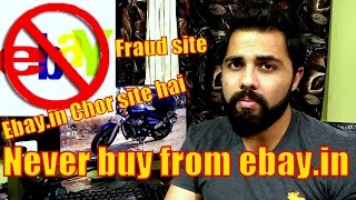 Never buy products from Ebay.in (fraud site)