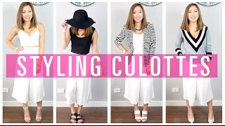 4 Outfits Styling Culottes // Lookbook