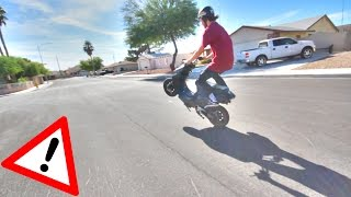 MAKING A 50cc SCOOTER INSANE FAST ! MAKE A 49cc MOPED FASTER + LOUDER !