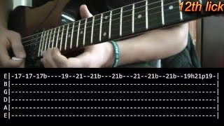 Comfortably Numb Guitar Solo Lesson 2/2 - Pink Floyd (with tabs)