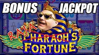 8 FREE GAMES ✦ BONUS ROUND JACKPOT! ➡ Pharaoh