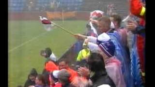Faroes - Luxembourg 1-0. 2002 World cup qualifiers. Wet, windy triumph...