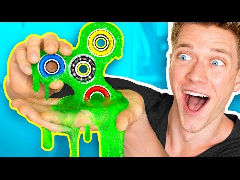 DIY Slime Fidget Spinner That ACTUALLY SPINS How To Make Rare Giant Fidget Spinners Toys & Tricks