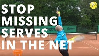 Stop Missing Serves In The Net - Hit Up And Out