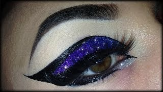 Spring Make Up Tutorial - Exotic, sexy, colorful and glittery cat eye (trucco primaverile)