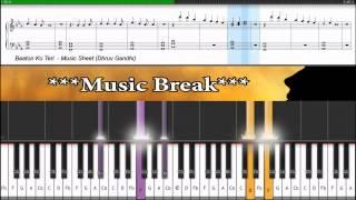 ♫ Baaton Ko Teri (ALL is WELL)    Piano Tutorial + Music Sheet + MIDI with LYRICS