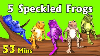 Five little Speckled Frogs Plus More Kids' Songs - 3D English Nursery Rhymes for Children