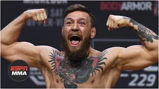 Conor McGregor vs Khabib Nurmagomedov weigh-in: Conor kicks out, Drake rocks Irish flag | UFC 229