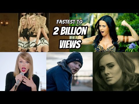 Top 20 Fastest Songs To Reach 2 Billion Views In YouTube History!!