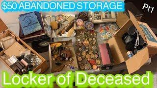 Deceased man walking! $50 Abandoned Storage Auction Unbox reveal part 1