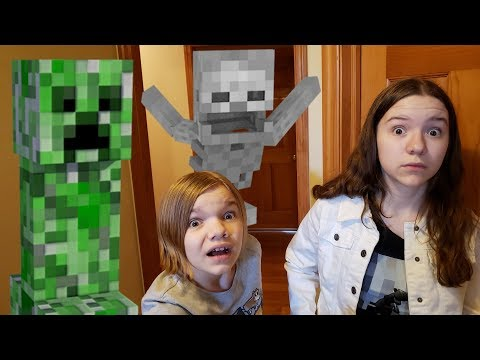 Chased By A Creeper Minecraft Treasure Hunt