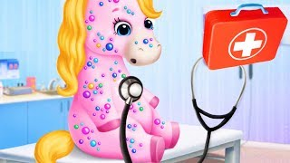 Pony Sisters Pet Hospital - Have Fun Caring For Baby Ponies & Make Fruit Smoothies - Gameplay Video