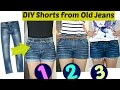 Download Video Download DIY: 3 Easy Ways to Turn Jeans Into Shorts    Shorts from Old Jeans 3GP MP4 FLV