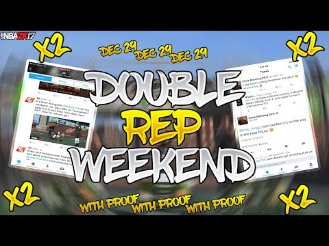 NBA 2K17 DOUBLE REP THIS WEEKEND PROOF!!! | REP UP 2x FASTER | DOUBLE REP GLITCH