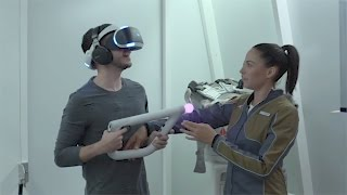 FIRST TIME ON PLAYSTATION VIRTUAL REALITY (FARPOINT FPS)