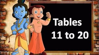 Tables for kids | Math tables | Table of 11 to 20