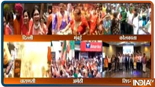 BJP supporters across India and abroad celebrate over massive victory of of BJP in LS Polls