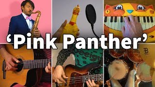 Who Played It Better: The Pink Panther Theme (Chicken, Cat Piano, Drums, Bass, Saxophone, Guitar)