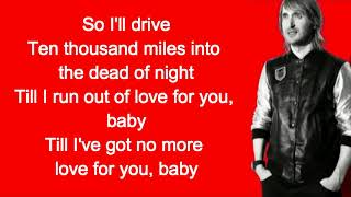 David Guetta & Black Coffee - Drive feat  Delilah Montagu Lyrics