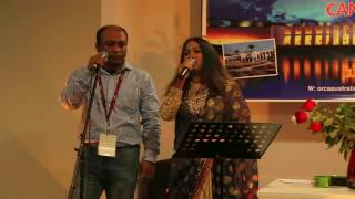 Ashraful Minhaz singing first time in stage with music track
