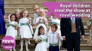 Royal children steal the show at Eugenie