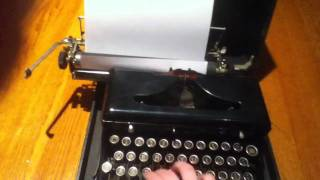 WWII Issued Royal Typewriter
