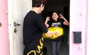 SHOCKING MY FANS WITH A SPECIAL MYSTERY BOX AT THEIR HOUSE!!