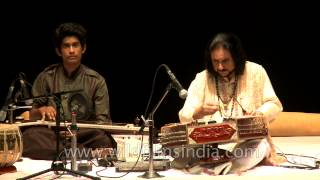Bhajan Sopori plays stringed instrument - the Santoor