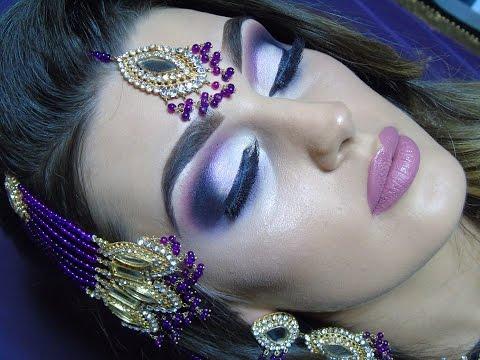 Modern Asian Bridal | Intense Purple Smokey Eyes | Indian Pakistani | Walima look