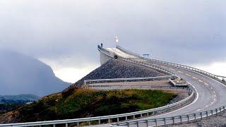 (HD) WONDROUS DRIVE Through Atlantic Ocean Road NORWAY