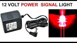 how to make 12 volt charger red led signal light