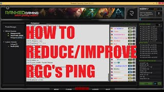 Lower your ping in Ranked Gaming Client (RGC) December 2018 | Abukenyo